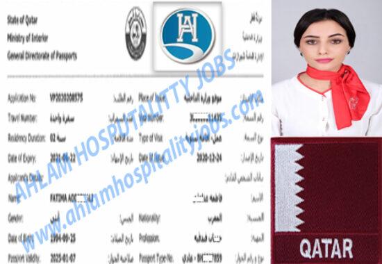 CONGRATULATION ON RECRUITMENT FOR HOTEL QATAR